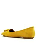Glove Yellow Gorse Woven Leather Tassels