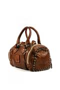 Bowler Brown Leather Strass Studs