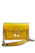 Clutch Celestina Yellow Patent Leather