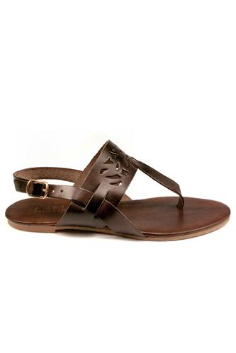 Sandal Brown Leather, LATIKA