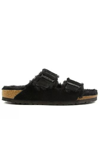 Arizona Black Sheepskin Suede, BIRKENSTOCK