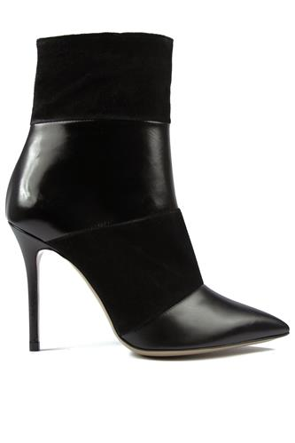 High Heels Ankle Boot Black Suede Leather, ROBERTO FESTA