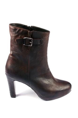 Ankle Boots Dark Brown Buffalo, ADRIANO AGOSTINI