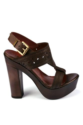 Ethnic Sandal Dark Brown, FIORIFRANCESI
