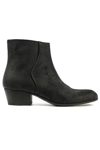 Boots Bourgeois Black Oiled Suede, PANTANETTI