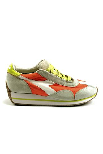 Equipe W Stone Wash Grey Alaska Dark Orange, DIADORA heritage