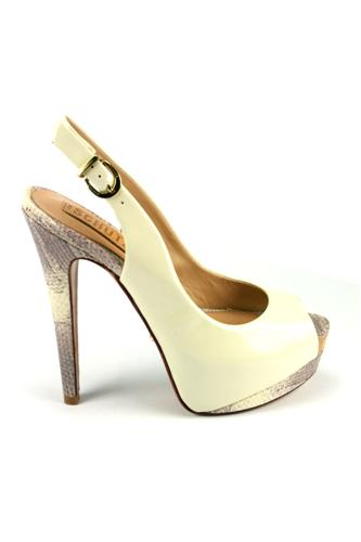 Chanel White Patent Leather Python, SCHUTZ