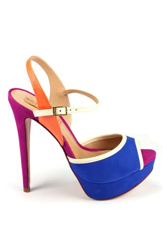 Sandal Blue Orange Cream Purple, SCHUTZ