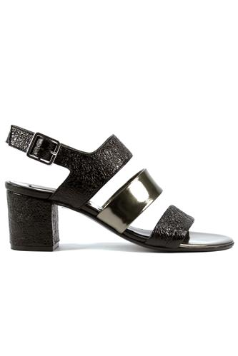 Sandal Black Ferrer Grey Gunmetal, BOTTEGA DELL'ARTIGIANO