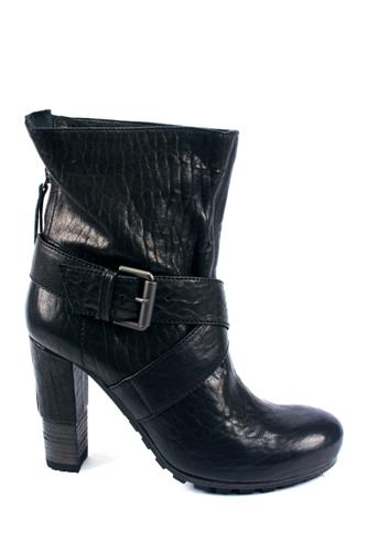 Ankle Boots Black Leather, VIC MATIE