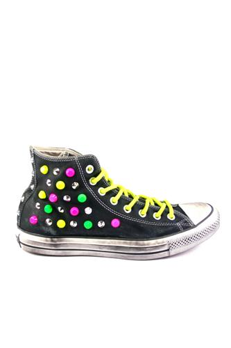 HI LEATHER NEON LTD Black Multicolor Studs, CONVERSE Limited Edition