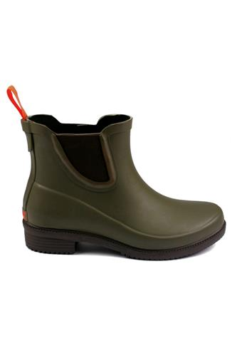 Dora Hunter Green Boots Low Cut Rubber, SWIMS