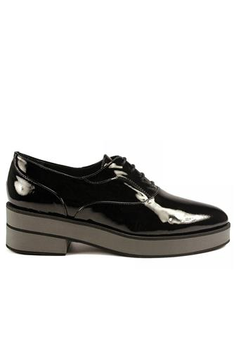 Palomitas Black Patent Leather Grey Gum Outsole, PALOMA BARCELO'