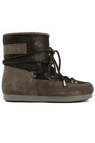 Far Side Low Suede Gl. Grey Black, MOON BOOT the original