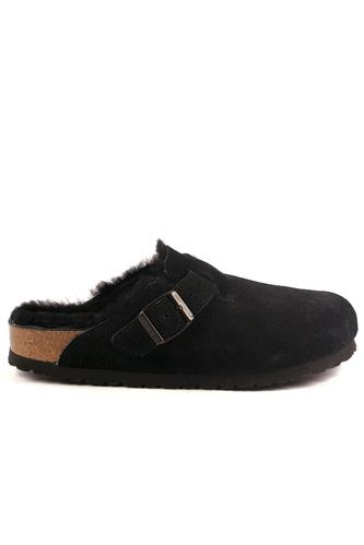 Boston Black Suede Sheepskin, BIRKENSTOCK