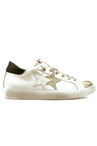 2SD Low White Black Leather Ice Suede, 2STAR