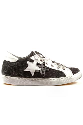 2SD Grey Anthracite Velvet White Leather, 2STAR