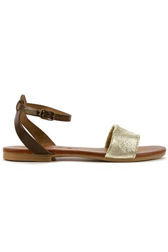 Sandal Leather Platinum Laminate, LATIKA