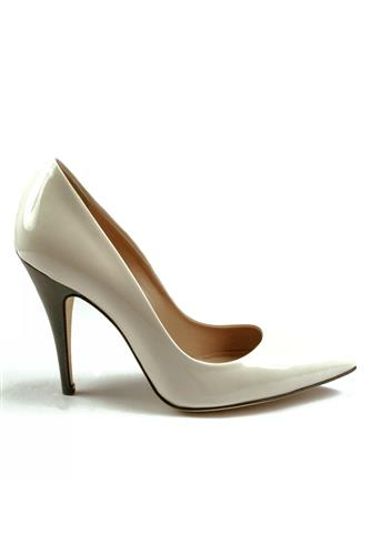 Decollete White Patent Leather, GIBELLIERI