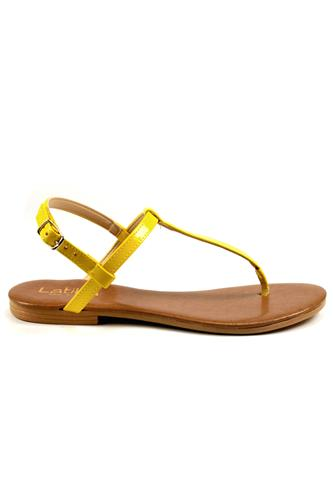 Sandal Yellow Patent Leather, LATIKA