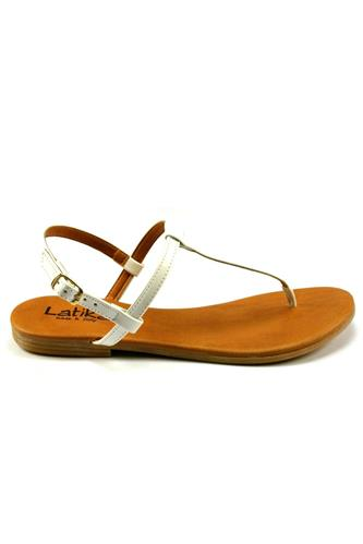 Sandal White Patent Leather, LATIKA