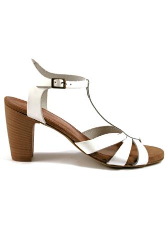 Sandal White Leather, LATIKA