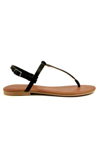 Sandal Black Castle Leather, LATIKA