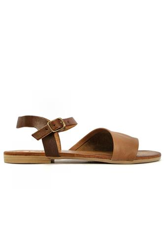 Sandal Brown Soft Leather, LATIKA