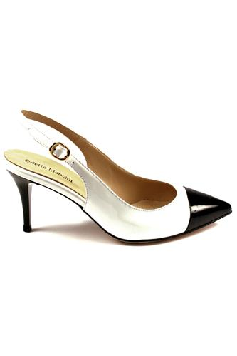Chanel White Black Patent Leather, ORIETTA MANCINI