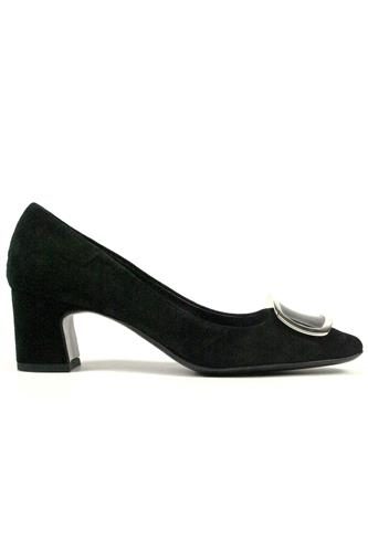 Decollete Black Suede Accessory, BRUGLIA