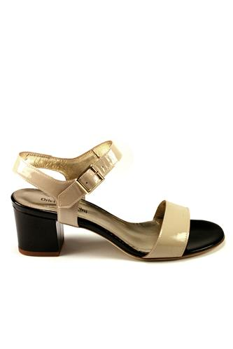 Sandal Cream Black Patent Leather, ORIETTA MANCINI