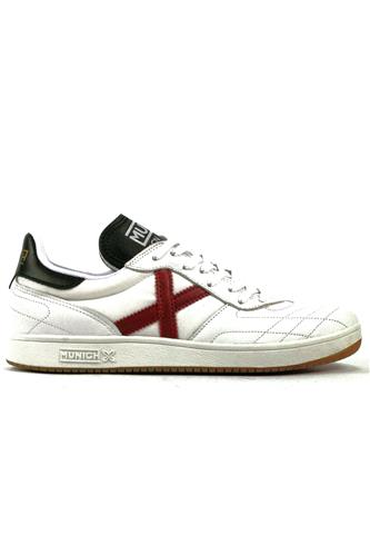 Orion Winter Canvas White Leather Red Black, MUNICH