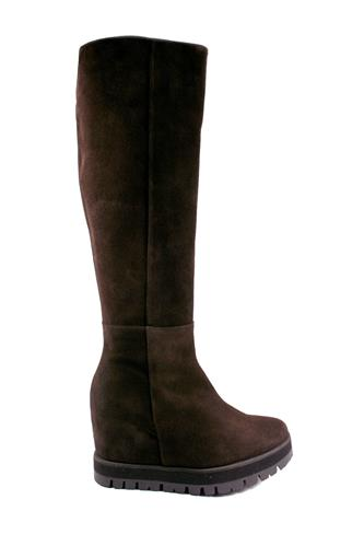 Palomitas Boots Dark Brown Silk Tundra, PALOMA BARCELO'