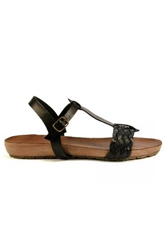 Fusbet Sandal Black Leather, LATIKA
