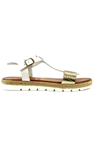 Rope Sandal White Gold, LATIKA