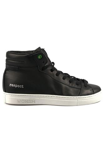 Recyclable Sneakers Bask Style Black White, WOMSH