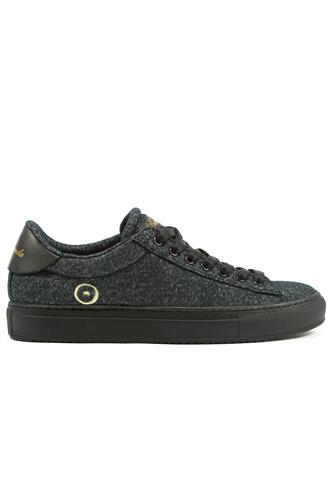 Smart Wool Breathable Dry Black Sneaker, BARRACUDA