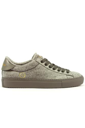 Smart Wool Grey Breathable Dry Sneaker, BARRACUDA