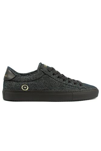 Smart Wool Black Breathable Dry Sneaker, BARRACUDA