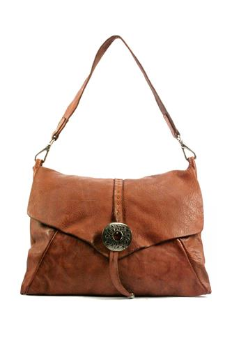 CAMPOMAGGIBag Light Brown Leather Venezia Buckle