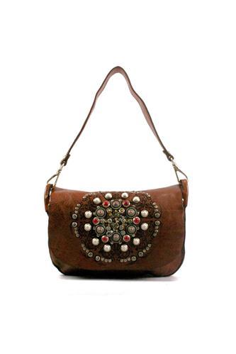 08af3ff97d3e Shoulder Bag Cognac Leather Siena Studs CAMPOMAGGI Bags