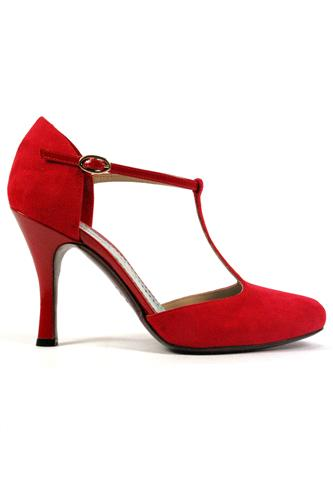 MINA BUENOS AIRESCarmen Suede Red Patent Leather