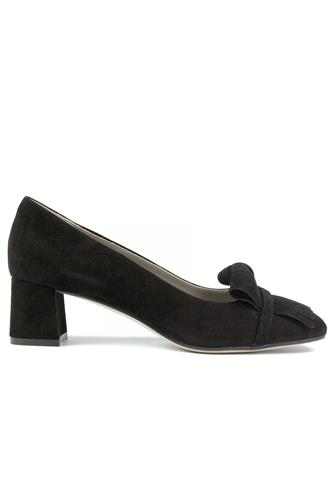 Chantal Fringes Black Suede, CHEVILLE