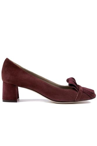 Chantal Fringes Bordeaux Suede, CHEVILLE