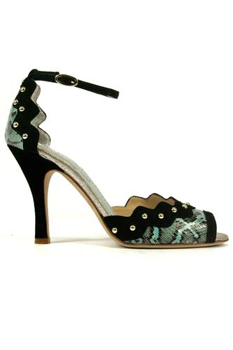 MINA BUENOS AIRESClaire Turquoise Ayers Black Suede Studs