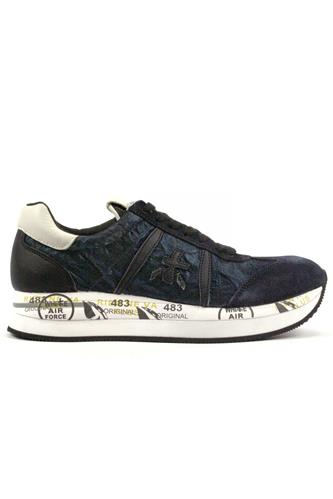 Conny Blue Laminated Nylon Suede Leather, PREMIATA