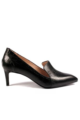 Shoes Black Crocodile Printed Leather, GAIA D'ESTE