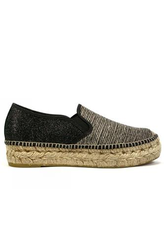 ESPADRILLESEmily Camaguey Grey Black Glitter