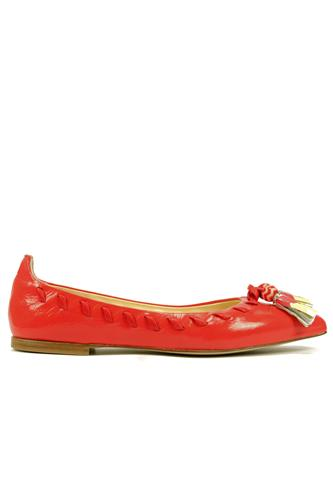 Shoes Leather Tassels Harrods Poppy Coral, FABI