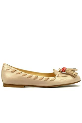 Shoes Tassel Parma Cream Leather, FABI